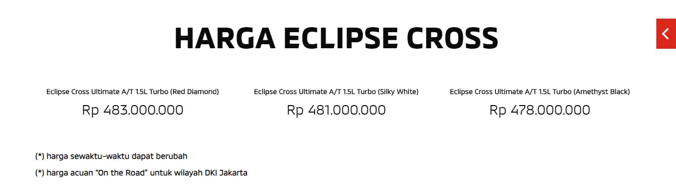 harga eclipse cross