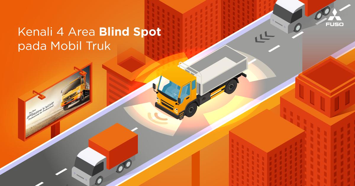 Kenali 4 Area Blind Spot pada Mobil Truk